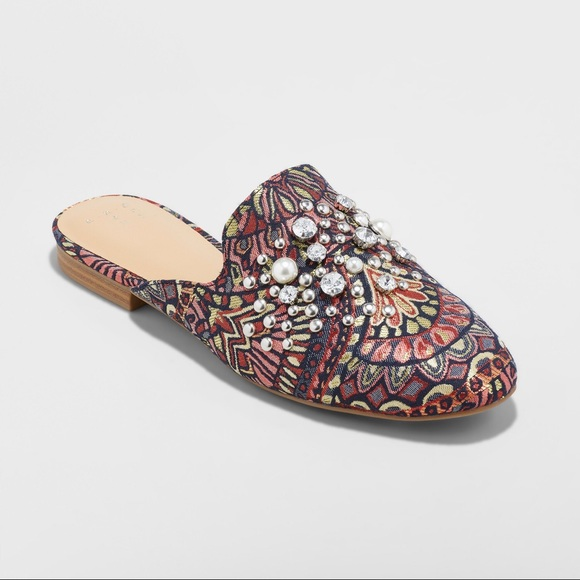 Womens Armina Backless Loafer Mules